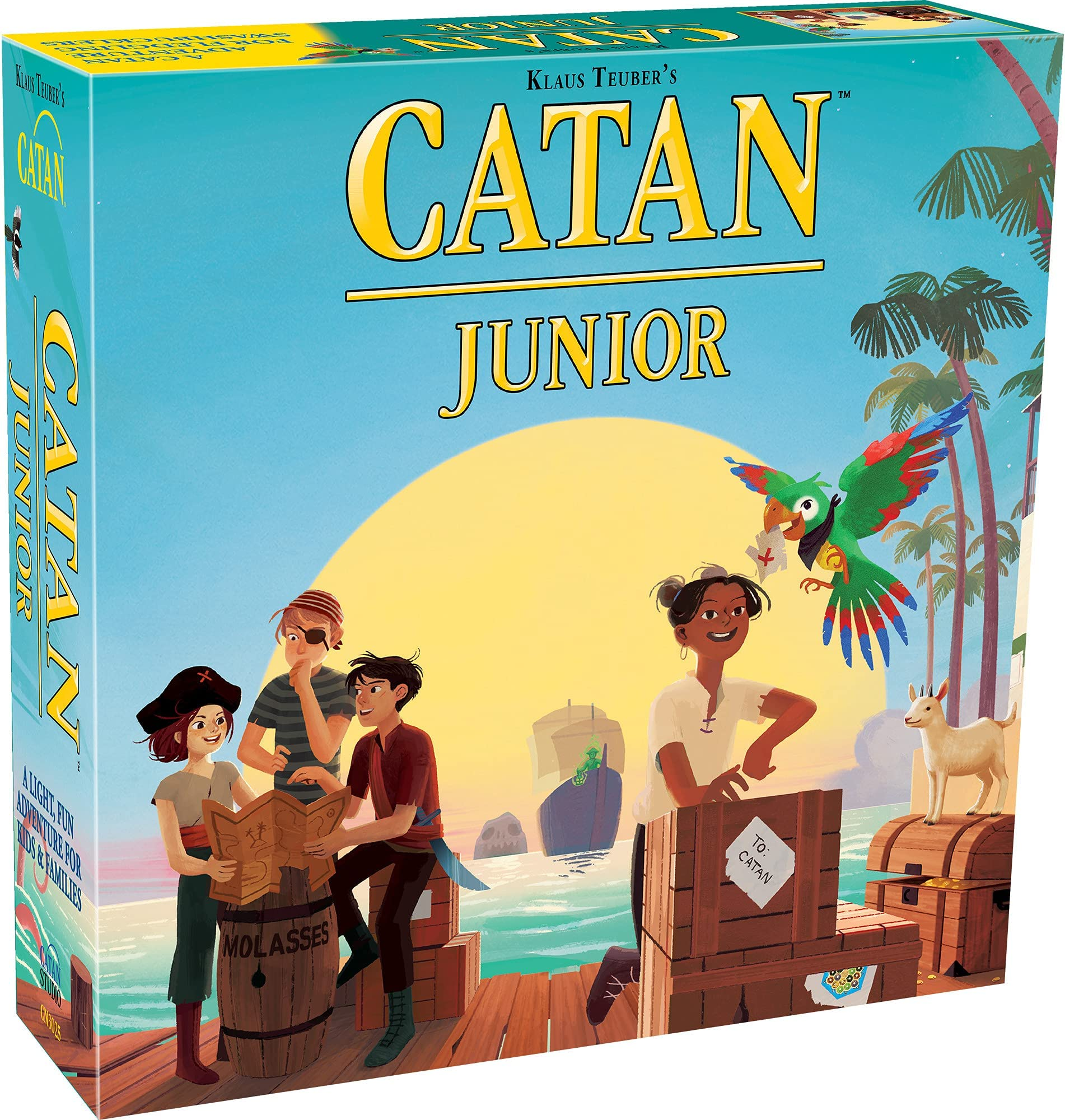 CATAN Junior Board Game | Board Game for Kids | Strategy Game for Kids | Family Board Game | Adventure Game for Kids | Ages 6+ | For 2 to 4 players | Average Playtime 30 minutes | Made by Catan Studio