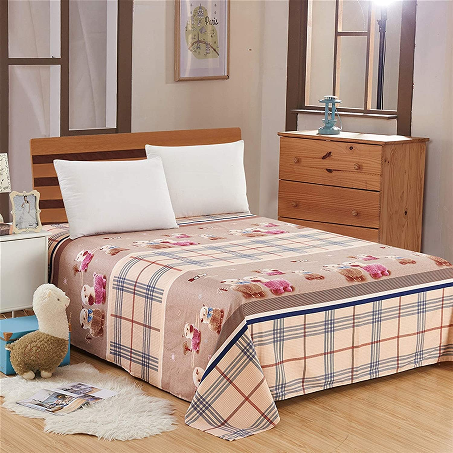 WSZMD Limited price Dyed Flat 100% quality warranty Bed Sheet Single Shee Bedding Brushed