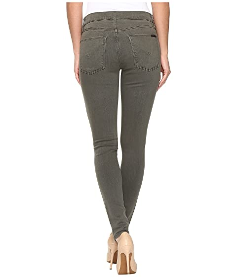 Skinny Green Hudson Mid Super Nico in Destructed Loden Rise pqCOI