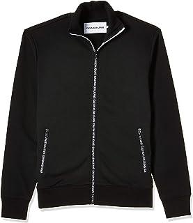 Calvin Klein Jeans Men's TRACK JACKET ZIP THROUGH Heavyweight Knits, Black (Black Beauty BAE), Large