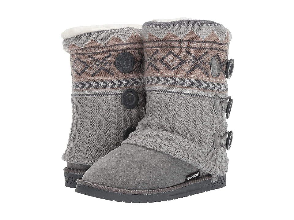 MUK LUKS Cheryl Cuff Boot (Grey Neutral) Women