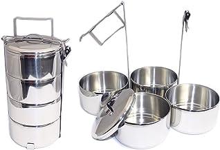 ZEBRA Thailand Stainless Steel Tiffin Food Carrier, Tiered Lunch Box