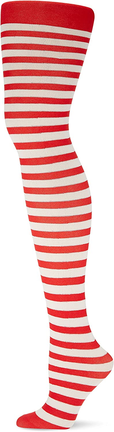 amscan 378812 Candy Stripe Adult Large-scale sale Tights Fabric Red Women Charlotte Mall