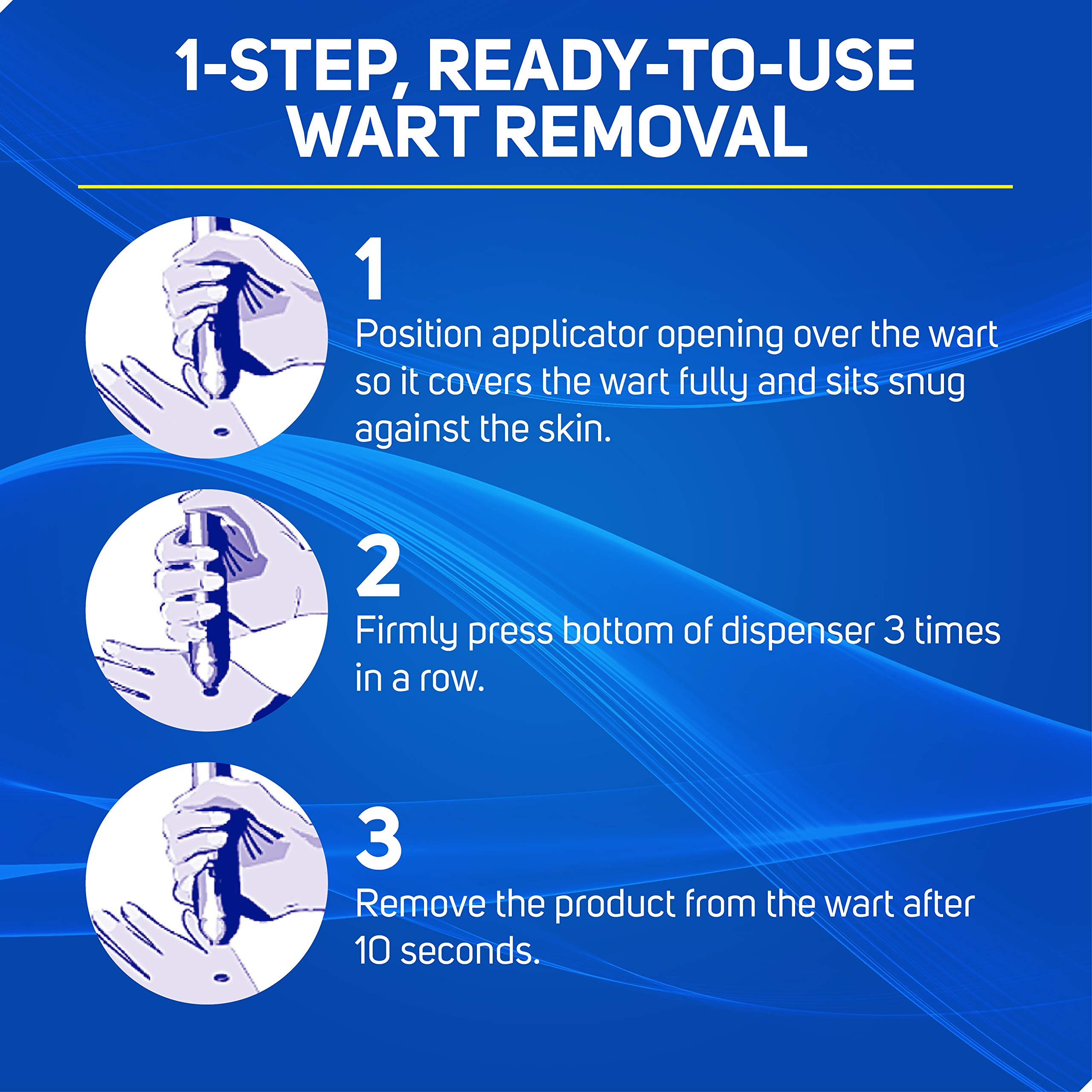 Care Science Wart Remover Freeze, 8 Applications   1-Step Cryogenic Wart Removal for Common Warts on Hands, Elbows, & Knees or Plantar Warts on Feet