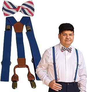 Suspenders and Bow Tie Set Adjustable for Men Dad