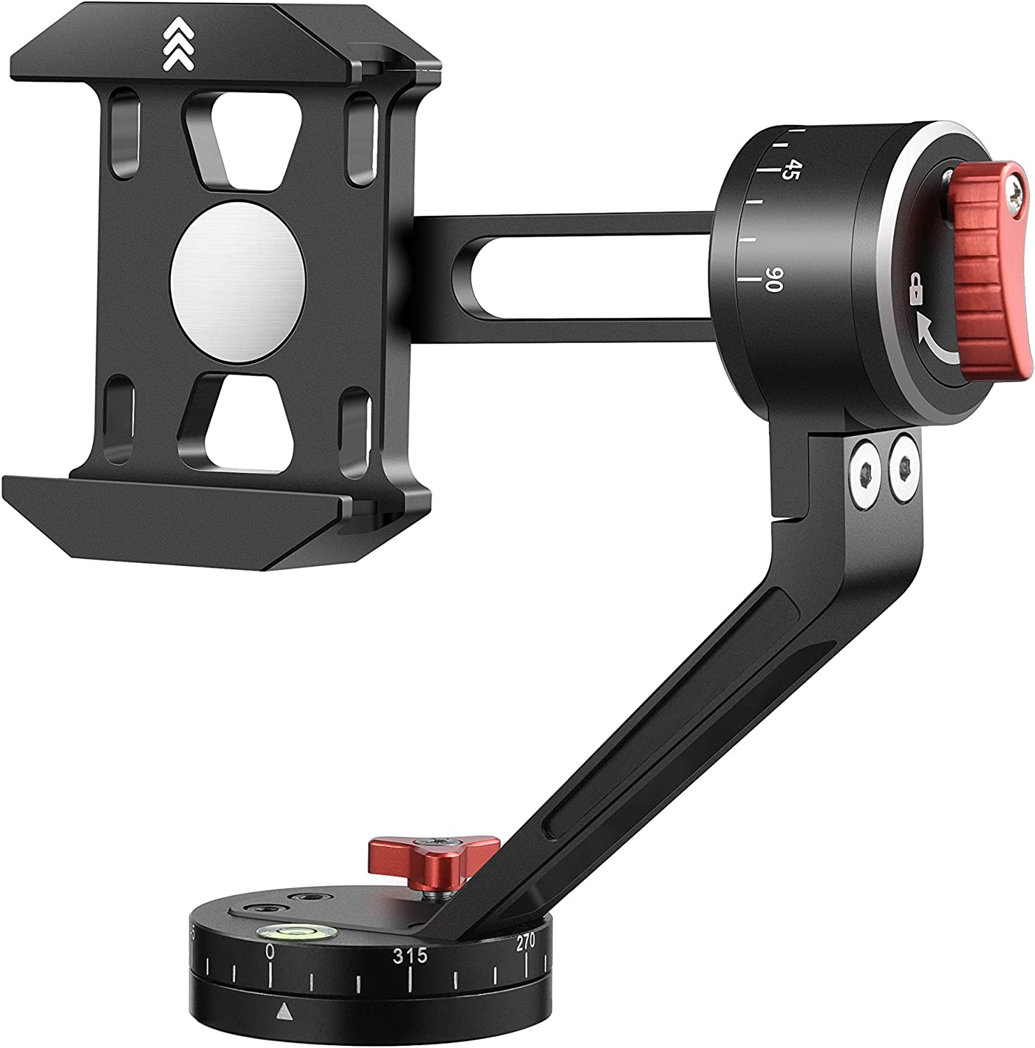 Zecti Tripod Head for Cell Phone S 360 Columbus Mall Alloy Popular brand in the world CNC Aluminum Degree