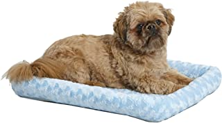 "Midwest Deluxe Bolster Pet Bed for Dogs & Cats; Pet Bed Measures 24L x 18W x 2.25H Inches & Fits Standard 24""L Wire Dog Cr..."
