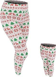 UB Mommy and Me Winter Print Christmas Leggings