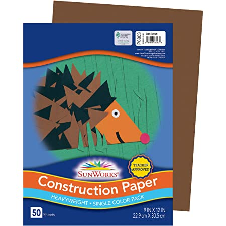 SunWorks Heavyweight Construction Paper Pack of 50 9 x 12 Inches Black