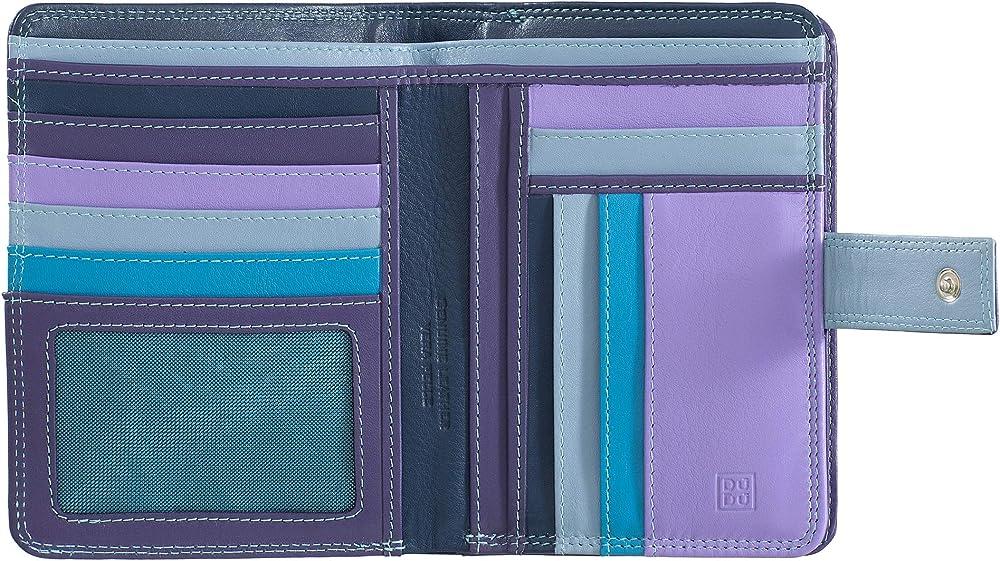 Dudu, portafoglio, porta carte di credito per donna, con protezione rfid, multicolore,  in pelle morbida 8031847164824