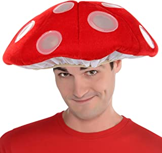 Inc Light-Up Mushroom LumenHat Halloween Costume Accessory for Children or Adults, One Size Fits Most