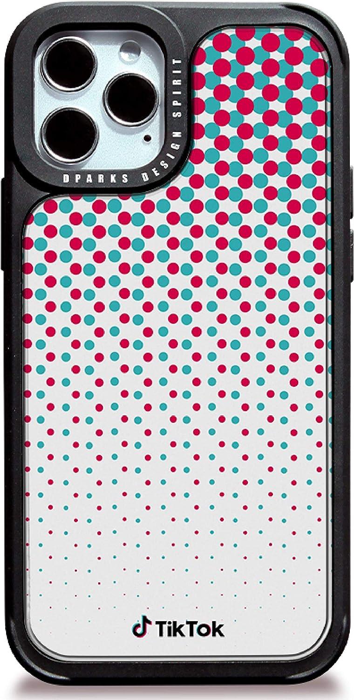 DPARKS Apple iPhone 11 Mobile Phone Case TikTok Dots Protective TPU Bumper Frame Military-Grade Shockproof Stylish Slim & Hard Design Cool Cute Pretty Minimal Artistic Premium