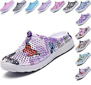 LIGHFOOT Garden Clog Shoes Beach Footwear Water bash Womens Summer Slippers Purple Size: 10.5 Women/8.5 Men