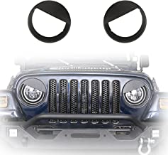 u-Box Black Front Headlight Bezels Angry Bird Insert Cover Trim for 1997-2006 Jeep Wrangler TJ