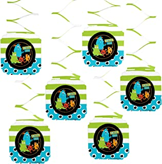 Big Dot of Happiness Monster Bash - Little Monster Birthday Party or Baby Shower Hanging Decorations - 6 Count
