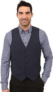 Men's Slim Fit Separate Vest Blue XX-Large