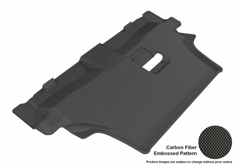 3D MAXpider Third Row Custom Fit All-Weather Floor Mat for Select Dodge Durango Models - Kagu Rubber (Black)