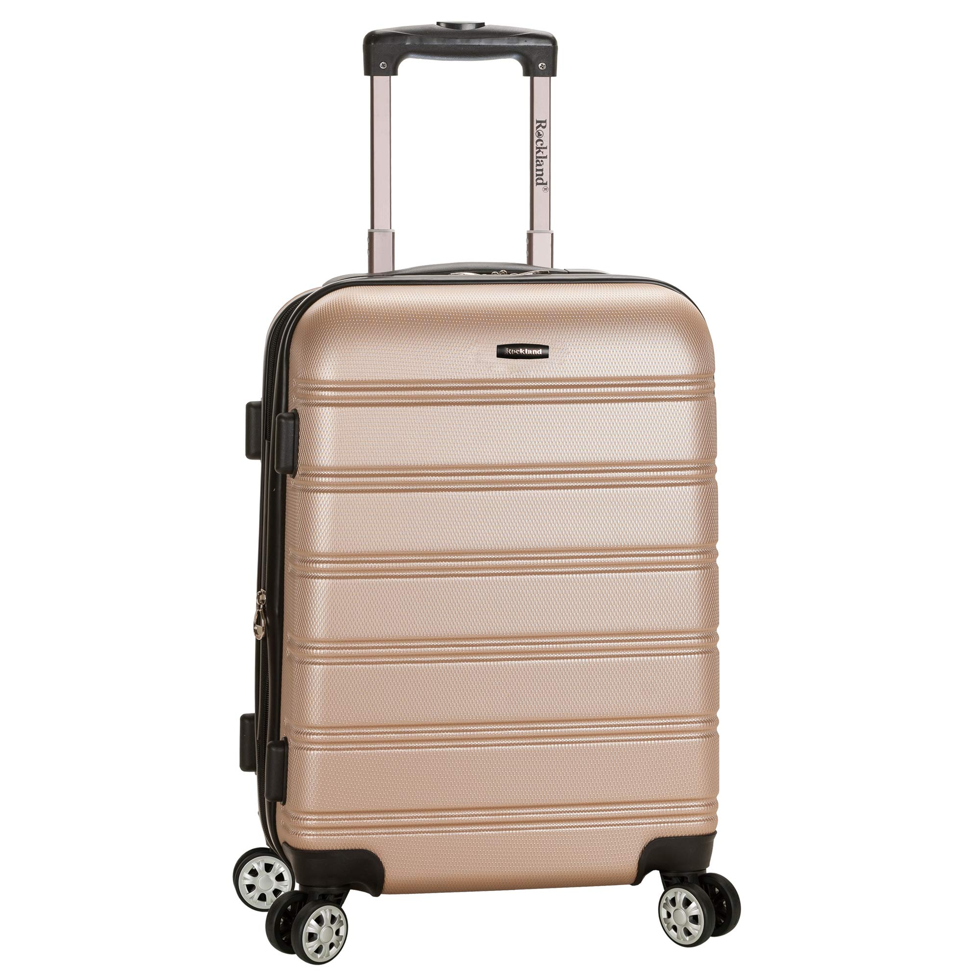 Rockland Luggage Melbourne Expandable Champagne