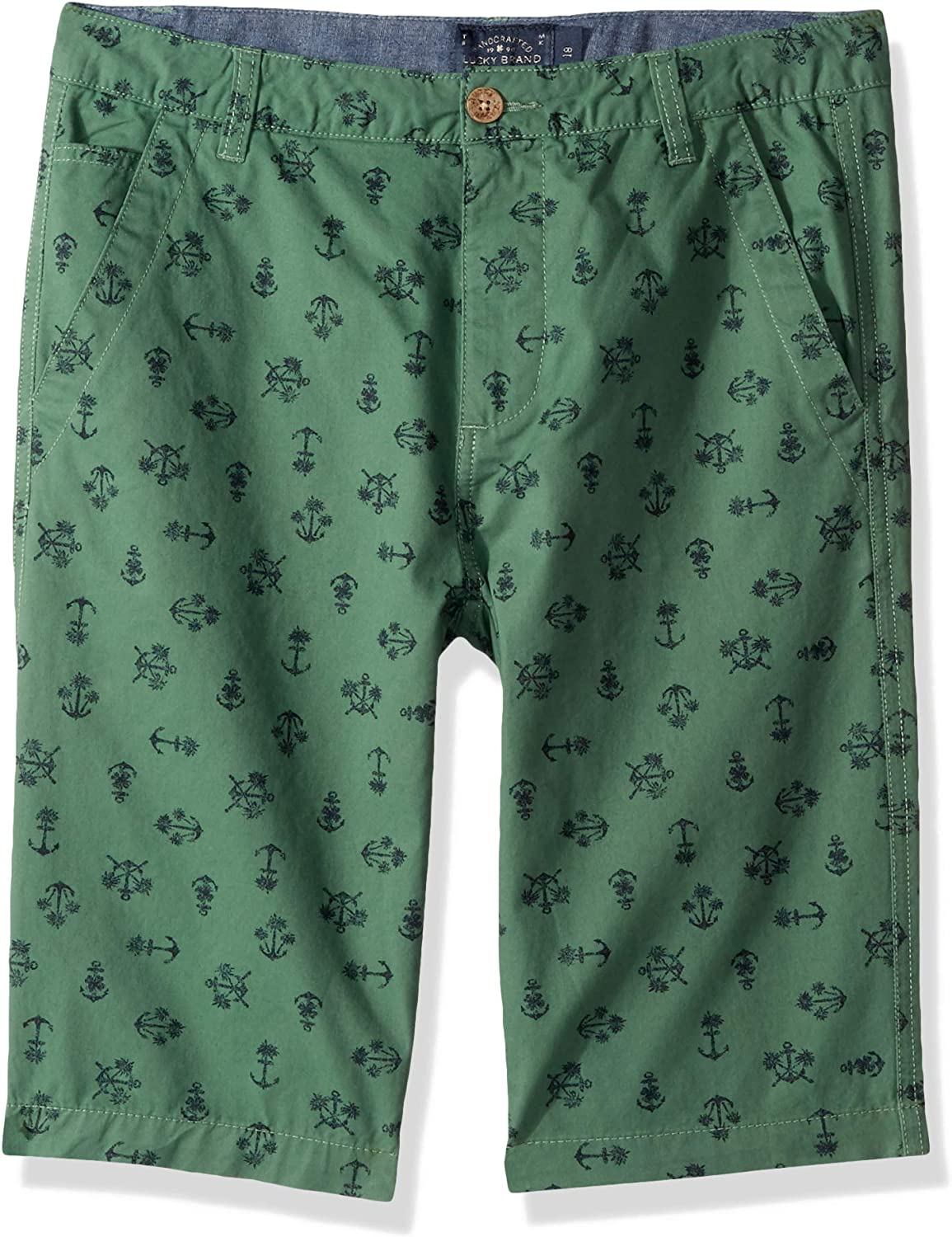 Lucky Brand Boys' Flat Front Twill Shorts