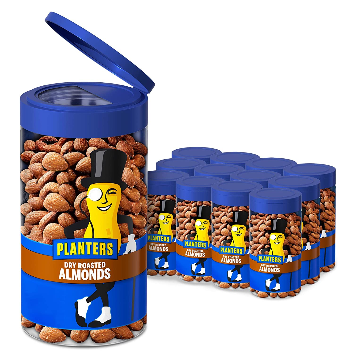 Planters Pop Regular discount Pour Dry Roasted Almonds Pack Jars 1 Spring new work of 6.5 oz