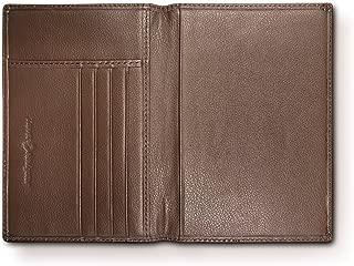 RFID Blocking Folding Leather Passport Holder Wallet For Men and Women - Brown