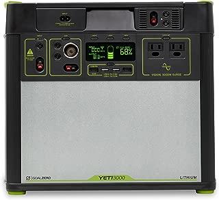 Goal Zero Yeti 3000 Lithium Portable Power Station WiFi Mobile App Enabled, 3024Wh/280Ah Silent Gas Free Generator Alternative with 1500 Watt (3000 Watt Surge) AC Inv, USB, USB-C, USB-PD 12V Outputs