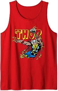 Marvel Thor Vintage God Of Thunder Portrait Logo Tank Top