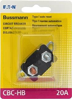Bussmann (BP/CBC-20HB-RP) 20 Amp Type-I Stud Mount Circuit Breaker with Lengthwise Bracket