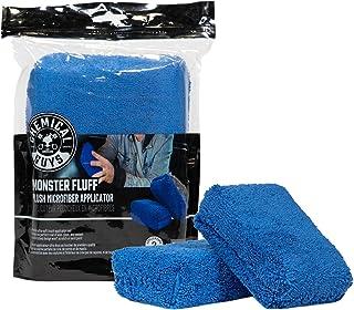 Chemical Guys Aplicador externo de microfibra premium Monster Fluff, azul (pacote com 2) (MIC29602)