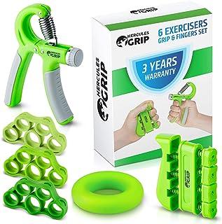 HerculesGrip Hand Grip Strengthener Forearm Grip Workout Kit – 4 Pack –..