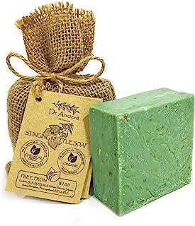 Organische natürliche vegane traditionelle handgemachte antike Brennessel Seife - Anti-Schuppen, für Akne, Peeling, gesundes Haar - Keine Chemikalien, reine Naturseifen!
