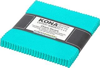 Kona Cotton Solids Splash Charm Square 42 5-inch Squares Charm Pack Robert Kaufman CHS-763-42