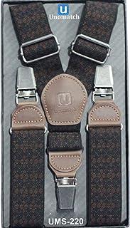 Zumeet Jacquard Check Design - Suspensorio de clip para hombre