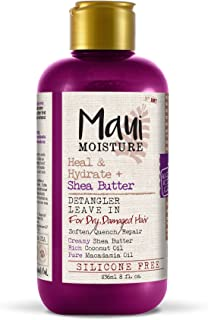 Maui Moisture Heal & Hydrate + Shea Butter Detangler Leave In, 8 Ounce (Pack of 6), with Shea Butter and Coconut Oil, For Softer Feeling Hair with Less Visible Split Ends, Helps Prevent Breakage