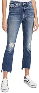 MOTHER Women's The Insider Crop Step Chew Jeans