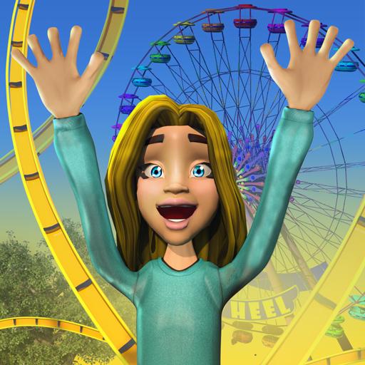 Freizeitpark-Königreich-Spiel – kostenlose Achterbahn im Vergnügungspark, extreme Wasserrutschen und Safari-Welt, Tierpark-Sim und voller Abenteuerspiele
