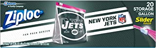 Ziploc Brand NFL New York Jets Slider Gallon, 20 ct