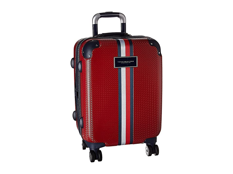 Tommy Hilfiger Basketweave 21 Upright Suitcase (Red) Luggage