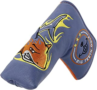Big Teeth Golf Blade Putter Cover Headcover Club Protector Magnetic Bar Closure for Scotty Cameron Taylormade Odyssey