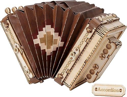 popular Rolife 3D Wooden Puzzles for Adults Accordion 2021 Musical Instrument outlet online sale Model(TG410) outlet online sale