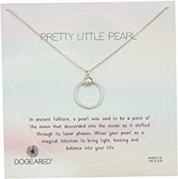 Pretty Little Pearls, Ring with Bezeled Pearl Necklace