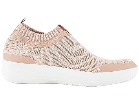 FitFlop Uberknit Slip-On Sneakers Neon Blush/Urban White Sale For Nice Clearance Fashionable IZkH5ySku