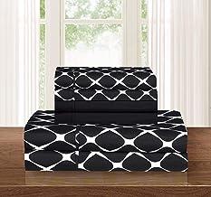 Elegant Comfort ™ Luxury Softest 4-Piece Sheet, Wrinkle Resistant Milano Trellis Pattern 1500 Thread Count Egyptian Qualit...