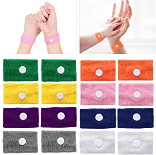 ROSENICE Motion Sickness Bands - 8 Pairs of Natural Acupressure Nausea Relief Wristbands Anti Nausea Bracelet Drug-Free for Sea Car Flying Pregnancy Travel Sickness