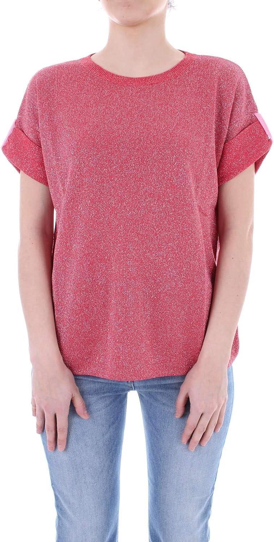 NENETTE Women's 27TJMENPHIS0500 Red Viscose TShirt