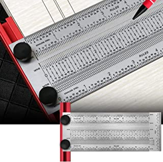 T-Rule,Precision Marking T-Rule 6'',Precision Woodworking Tools T-Square 6'',Stainless Steel Positioning Scribing Gauge, C...