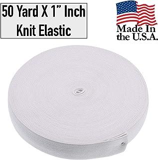 "Barcelonetta | 50 Yard X 1"" Inch | Sewing Elastic | Elastic Band Spool | Knit Roll, Stretch, Craft Elastan | Made in USA (White)"
