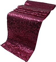 "Elina Home 13"" x 108"" Glitter Sequin Table Runner,Wedding Banquet Kitchen Decoration(Pack of 5,Pink)"