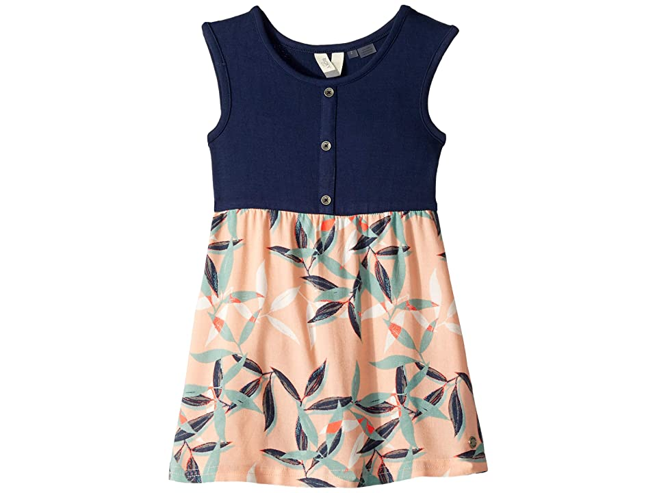 Roxy Kids Sun and Waves Dress (Toddler/Little Kids/Big Kids) (Salmon Leaves) Girl