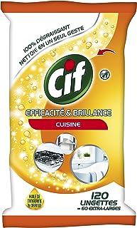 CIF Lingettes Nettoyantes Efficacité/Brillance Cuisine 120